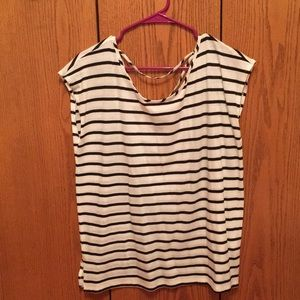 GAP Tops - Criss cross back with black and white stripes